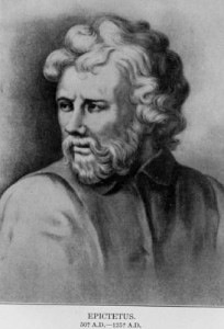 Epictetus (A.D. 55-A.D. 135). Picture from Internet Encyclopedia of Philosophy