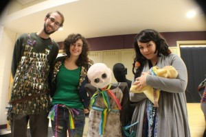 Photo from the festival: a few of us in Midsummer Night's Dream Costumes, designed by Emily West