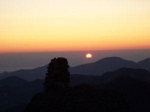 Photo I took from the summit as the sun rose.