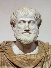 Aristotle, with his dashing beard