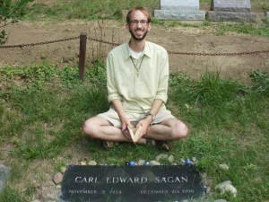 My visit to the grave in Lakeview Cemetery, Ithaca, New York