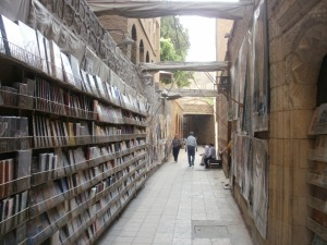 The Book Seller in Coptic Cairo