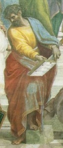 Parmenides in the School of Athens by Raphael (from Wikipedia)