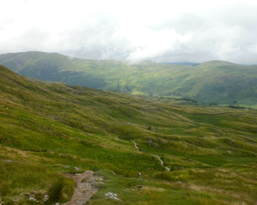 The trail to the town of Troutbeck