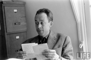Camus, in an unusually peppy mood. [Image from Google Images]