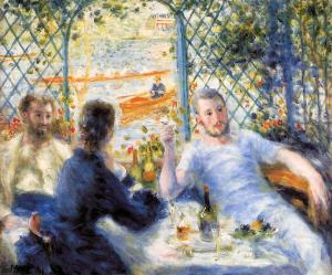 19th Century Middle Class at its finest. [Renoir image from artinthepicture.com]