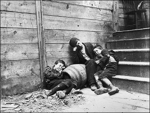 From Jacob Riis' How the other Half Lives (1890). [Image from Harvard.edu]