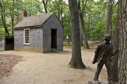 """Live deliberately"" in this replica of Thoreau's cabin"